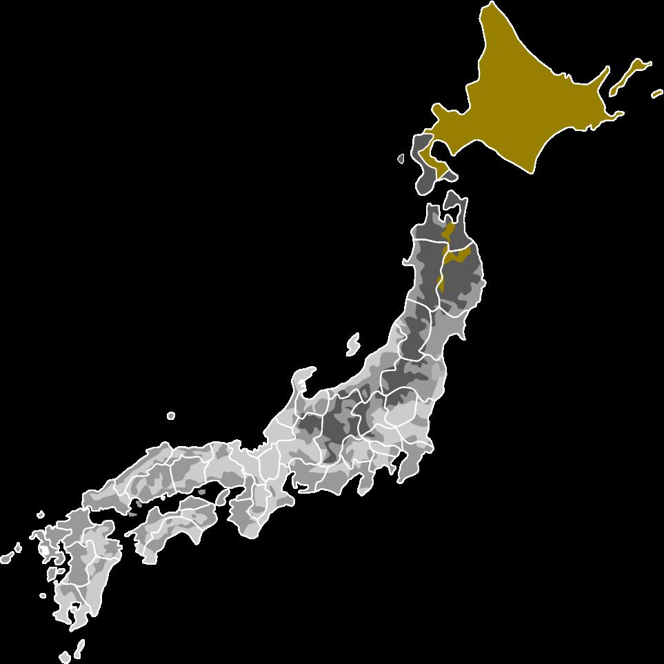 省エネルギー 基準の地域区分を示した日本地図